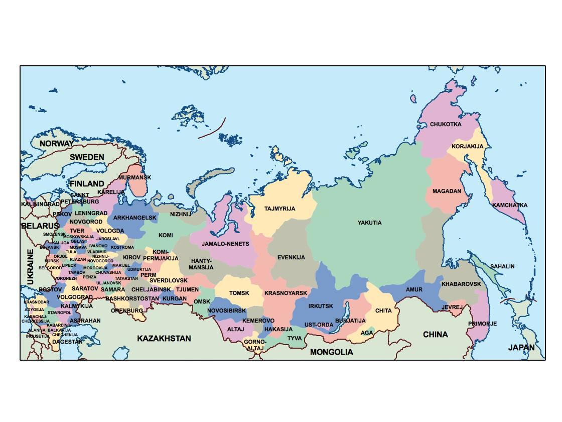 Russia Presentation Map Vector Maps