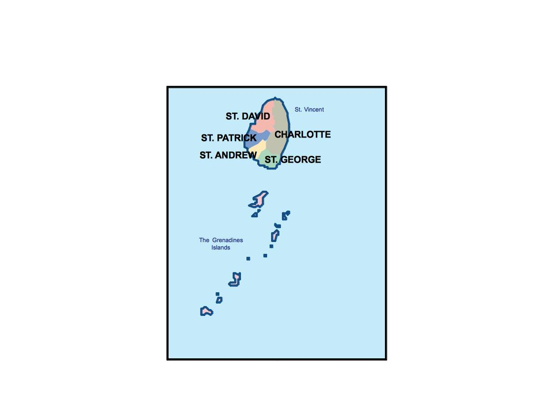 saint vincent and the grenadines presentation map