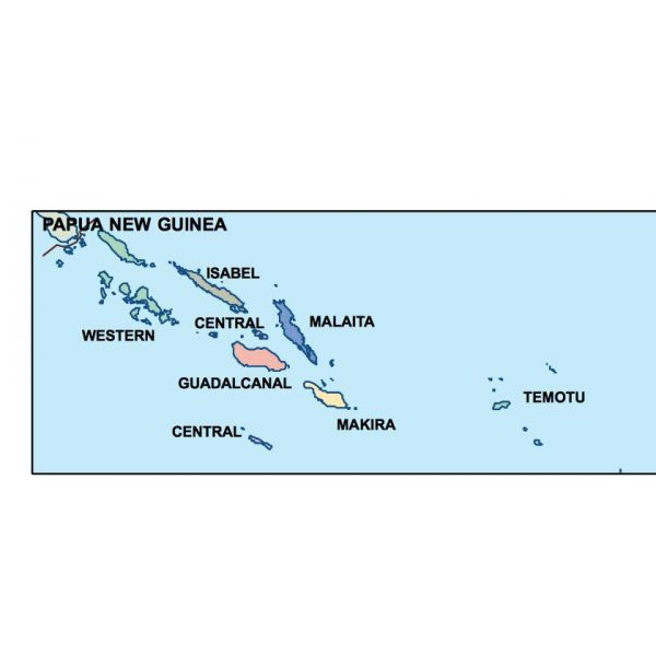 solomon islands presentation map