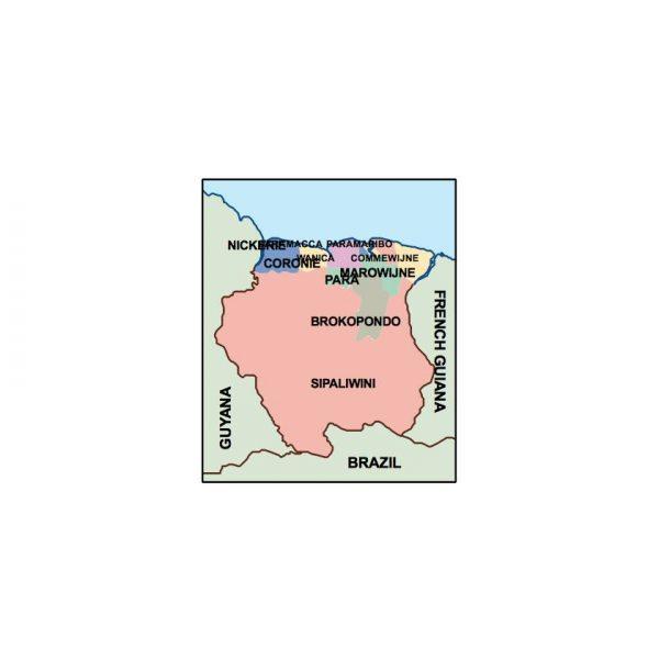 suriname presentation map