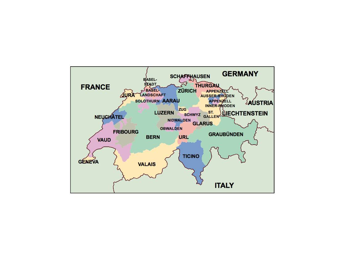 switzerland presentation map