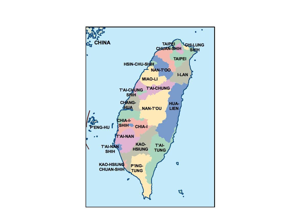 taiwan presentation map