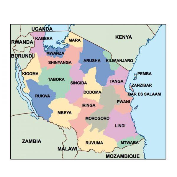 tanzania presentation map