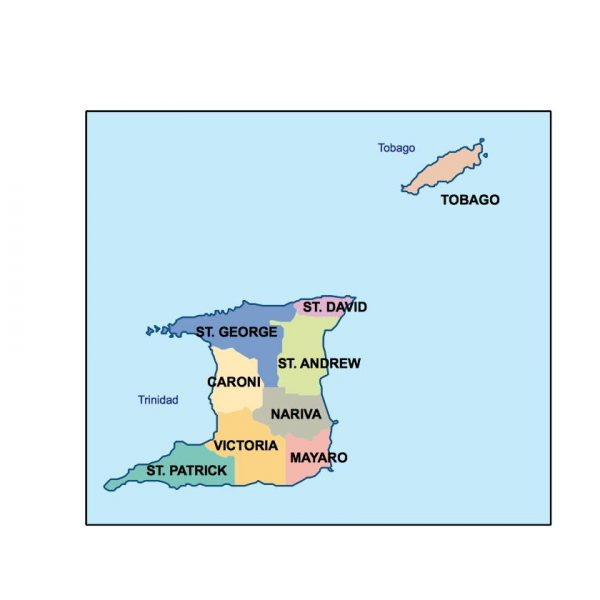 trinidad and tobago presentation map