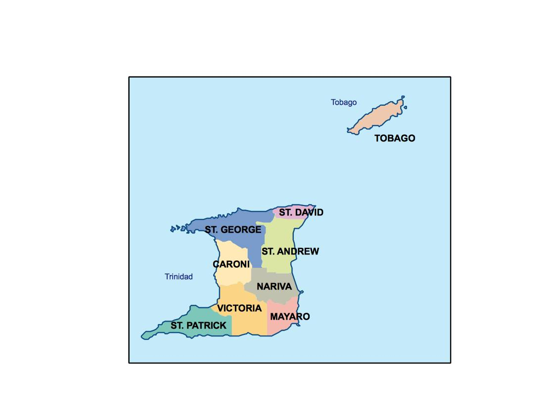 trinidad and tobago presentation map