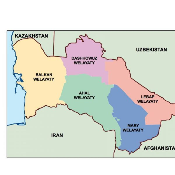 turkmenistan presentation map