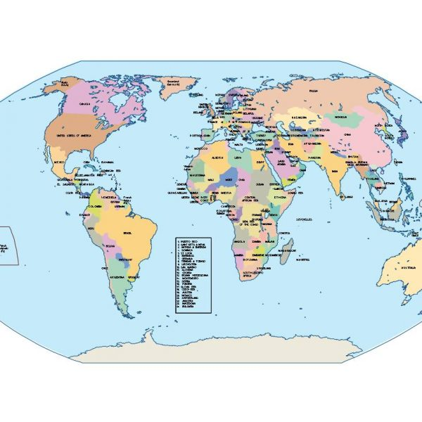 world globe presentation map