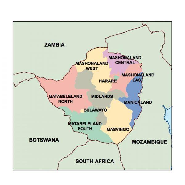 zimbabwe presentation map