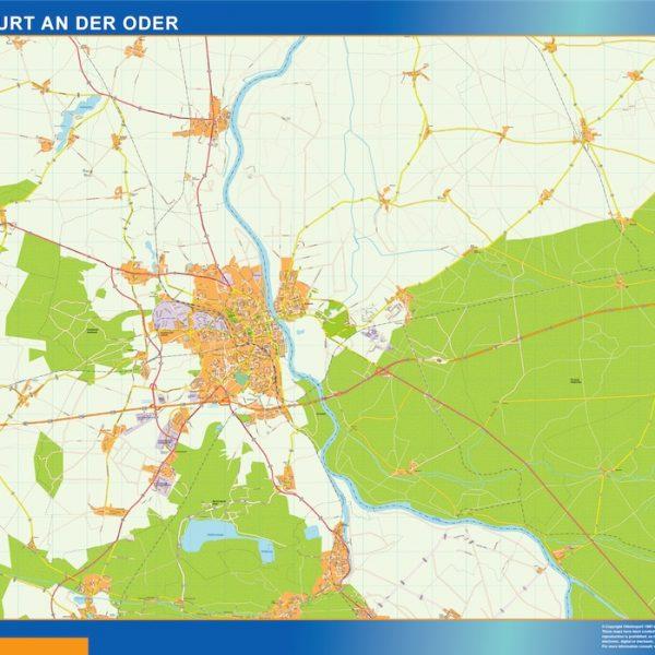 Frankfurt An Der Oder Wandkarten