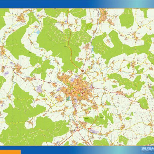 Fulda Wandkarten