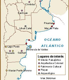 Argentina mapa interes cultural