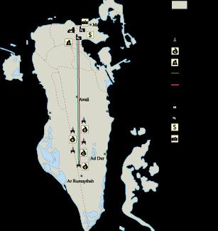 Bahrain Economic map