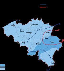 Belgium Climate map