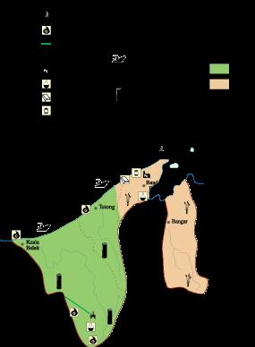 Brunei Economic map