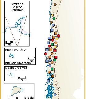 Chile mapa sector primario