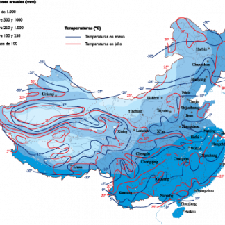 China Climate map