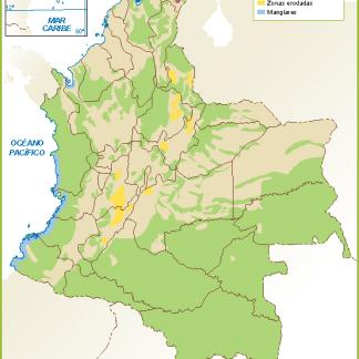 Colombia mapa flora fauna