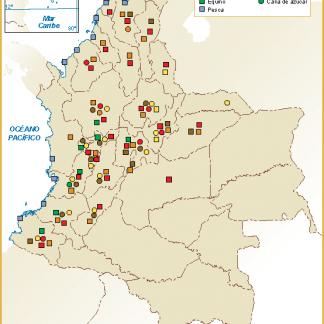 Colombia mapa sector primario