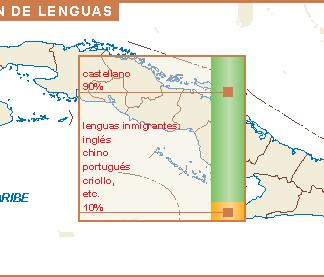 Cuba mapa lenguas