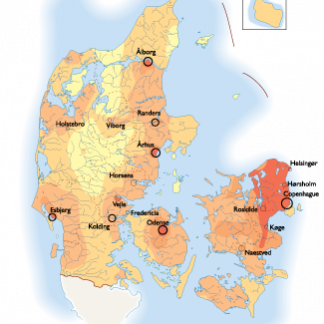 Denmark Population map