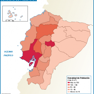 Ecuador mapa poblacion