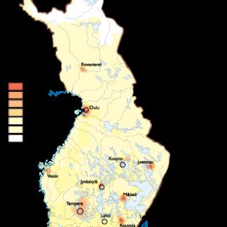 Finland Population map