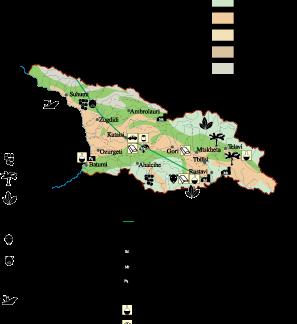 Georgia Economic map