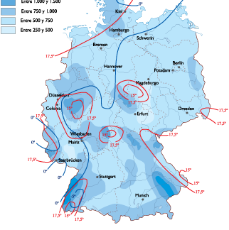 Germany Climate map