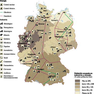 Germany Economic map
