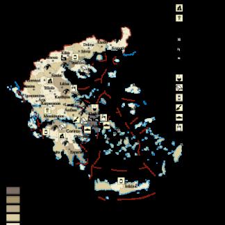 Greece Economic map