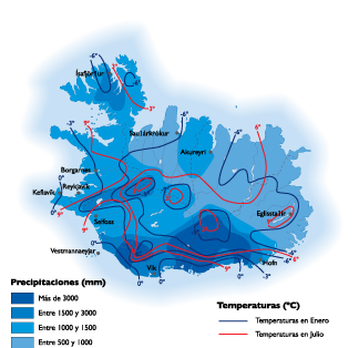 Iceland Climate map