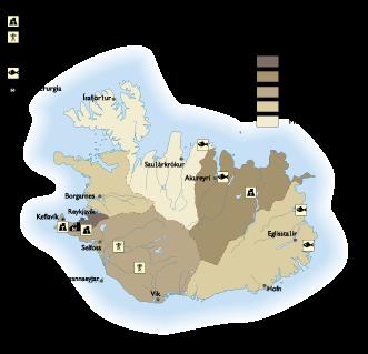 Iceland Economic map