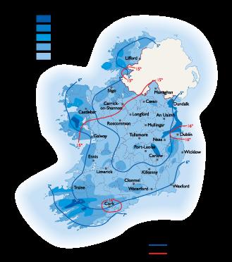 Ireland Climate map