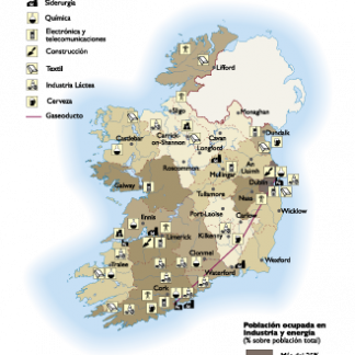 Ireland Economic map