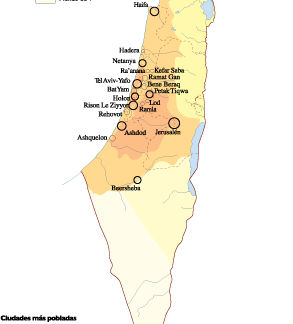 Israel Population map