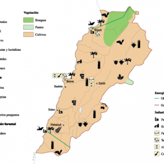 Lebanon Economic map