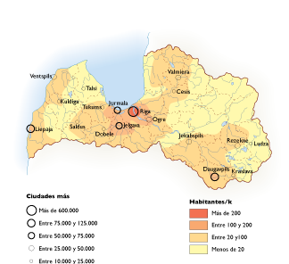 Letonia Population map