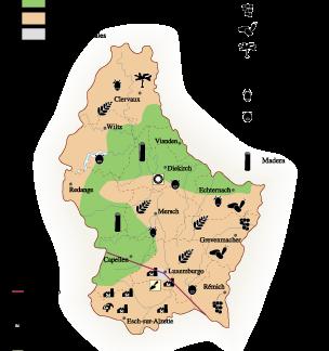 Luxembourg Economic map