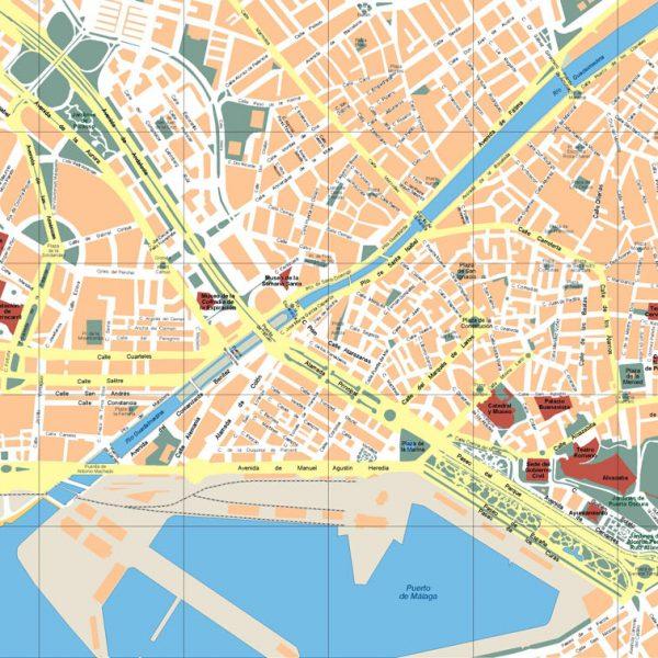 Malaga Mapa