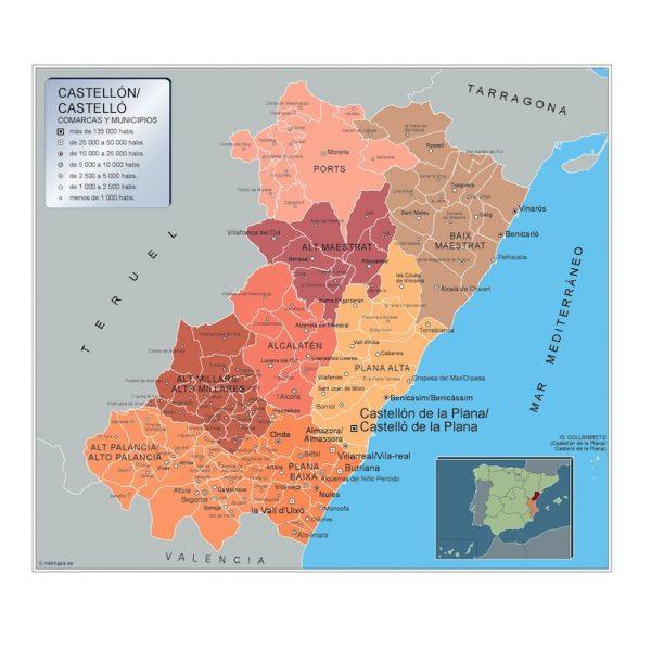 Mapa Municipios Castellon