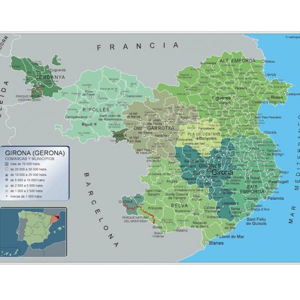 Mapa Municipios Girona