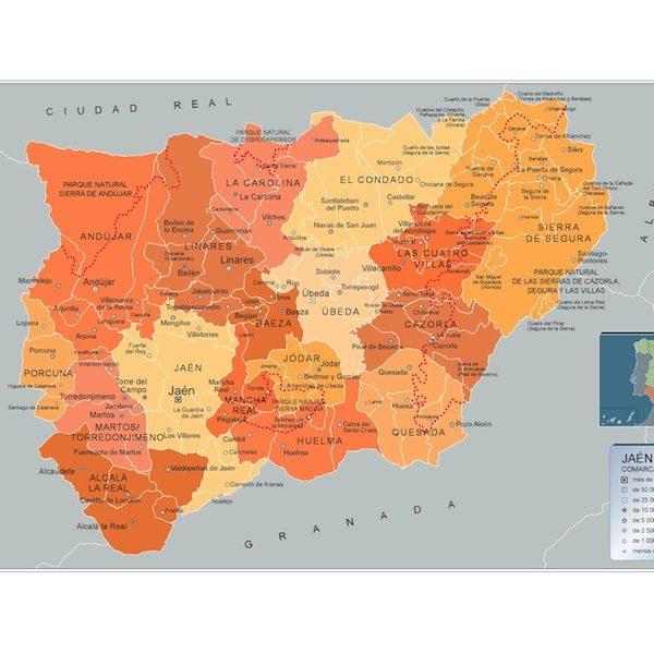 Mapa Municipios Jaen