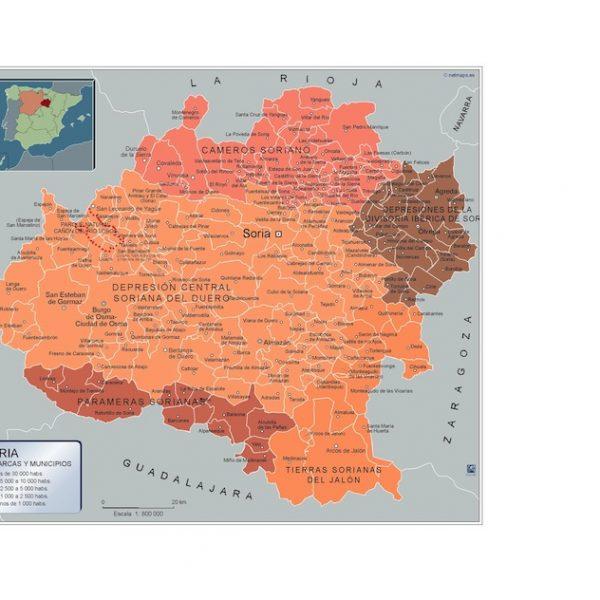 Mapa Municipios Soria
