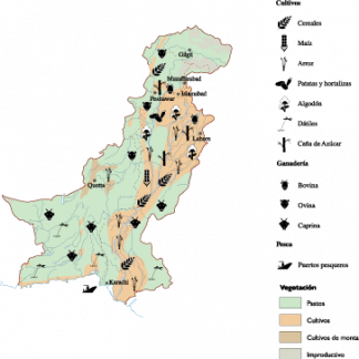 Pakistan Agricultural map