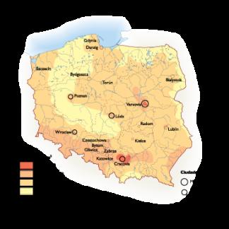 Poland Population map