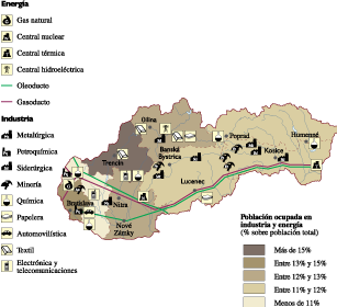 Slovak Republic Economic map