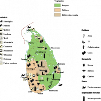 Sri Lanka Economic map