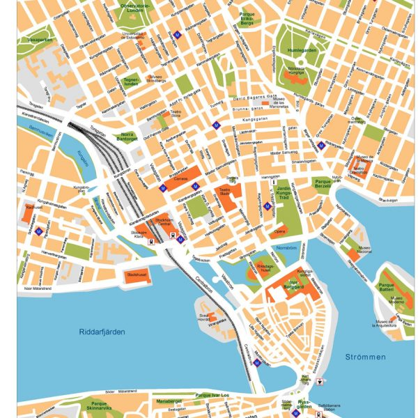Stockholm Vector Map