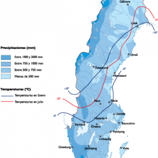 Sweden Climate map