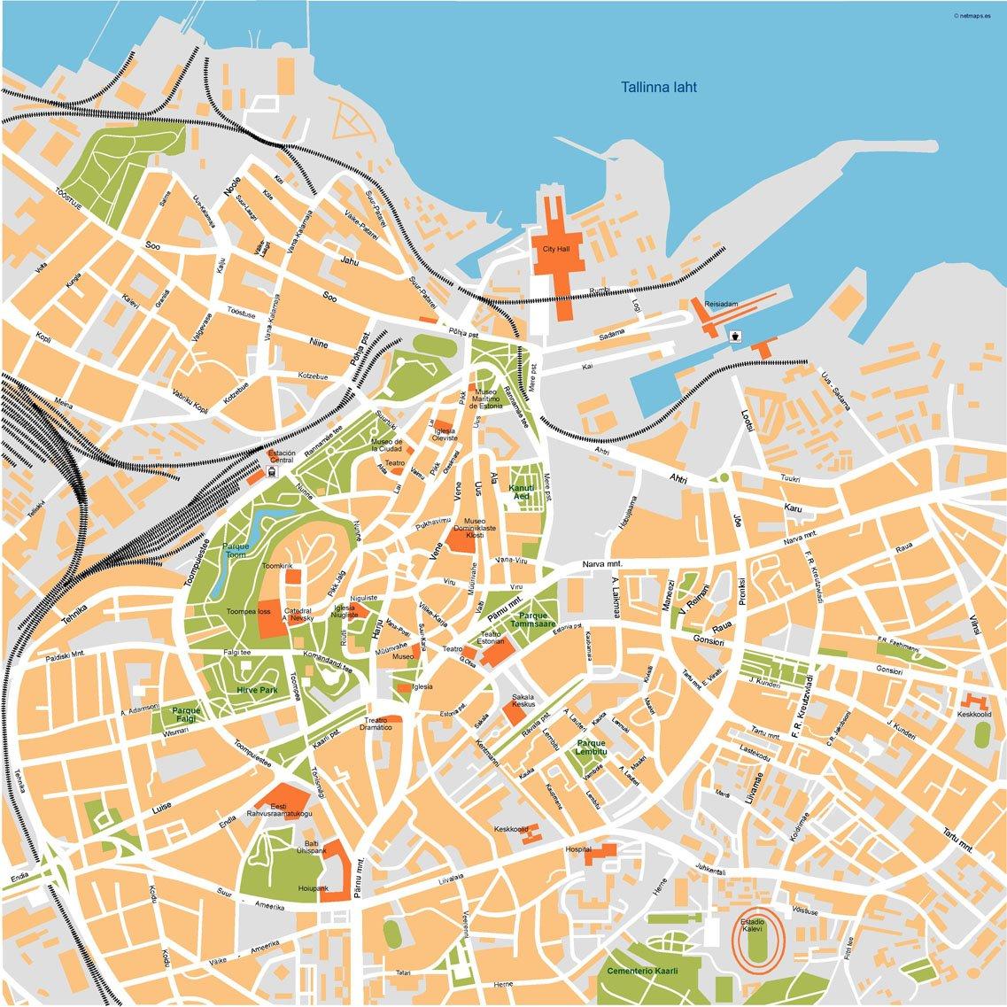 Tallin Vector Map